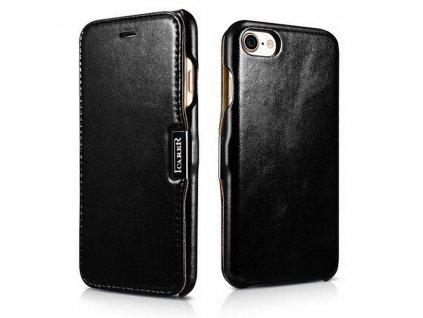 Knížkové pouzdro pro iPhone 7 / 8 / SE (2020) - iCarer, Vintage Black
