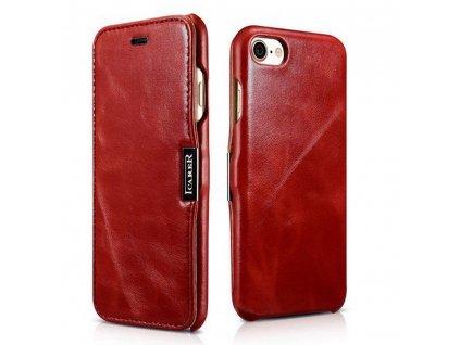 Knížkové pouzdro pro iPhone 7 / 8 / SE (2020) - iCarer, Vintage Red