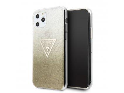 Ochranný kryt na iPhone 11 Pro - Guess, Solid Glitter Gold