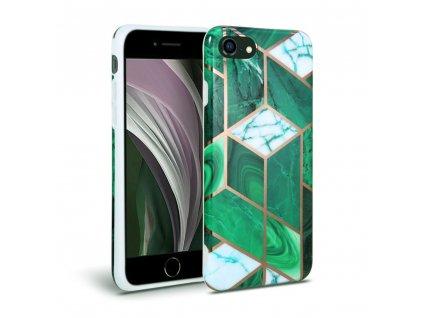 Ochranný kryt pro iPhone 7 / 8 / SE (2020) - Tech-Protect, Marble Green