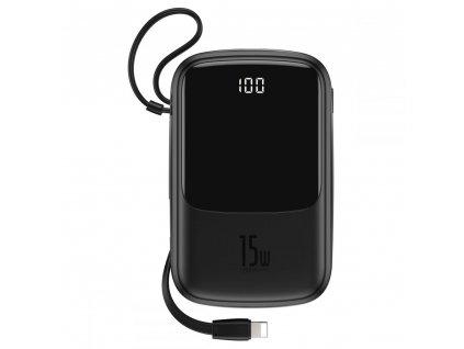 Externí baterie / powerbanka pro iPhone a iPad - Baseus, QPOW 10000mah Black + Lightning kabel