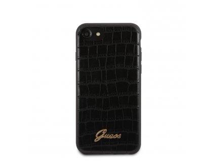 Ochranný kryt pro iPhone 7 / 8 / SE (2020) - Guess, Croco Back Black