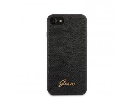 Ochranný kryt pro iPhone 7 / 8 / SE (2020) - Guess, Lizard Back Black