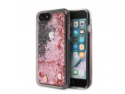 Ochranný kryt pro iPhone 7 / 8 / SE (2020) - Guess, Floating Hearts Pink