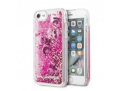 Ochranný kryt pro iPhone 7 / 8 / SE (2020) - Karl Lagerfeld, Floatting Charms Pink