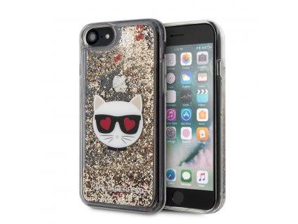 Ochranný kryt pro iPhone 7 / 8 / SE (2020) - Karl Lagerfeld, Heads Glitter Gold