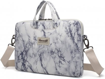 Taška na notebook - CANVASLIFE, 15 Briefcase MarbleWhite