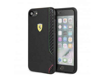Ochranný kryt pro iPhone 7 / 8 / SE (2020) - Ferrari, OnTrack Rubber Black