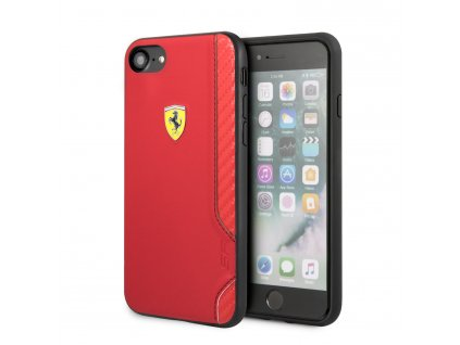 Ochranný kryt pro iPhone 7 / 8 / SE (2020) - Ferrari, OnTrack Rubber Red