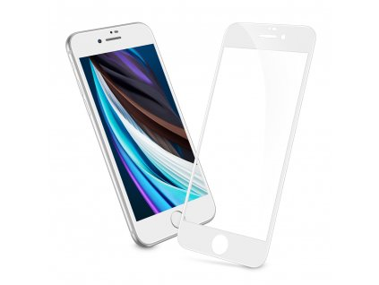 Ochranné tvrzené sklo pro iPhone 7 / 8 / SE (2020) - ESR, Screen Shield 3D White