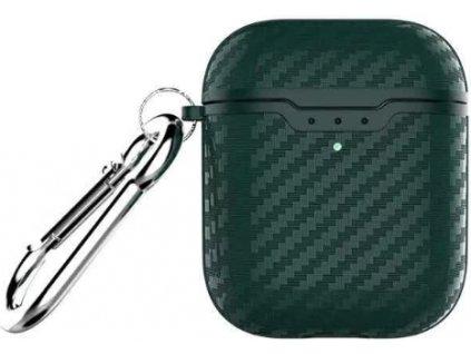 Pouzdro pro sluchátka AirPods - Devia, Noble Case Green