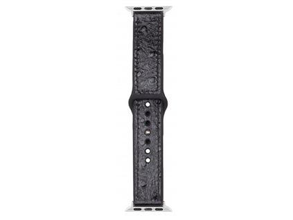 Řemínek pro Apple Watch 42mm / 44mm / 45mm - Devia, Ostrich Black