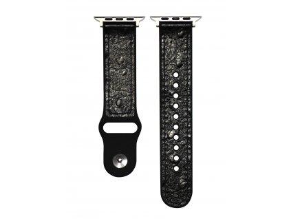 Řemínek pro Apple Watch 38mm / 40mm - Devia, Ostrich Black
