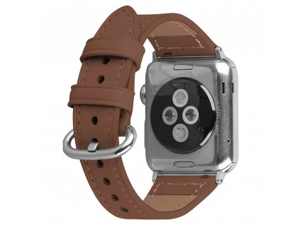 Řemínek pro Apple Watch 42mm / 44mm - Devia, Slim Brown