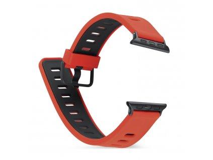 Řemínek pro Apple Watch 42mm / 44mm - Devia, TwoTone Red/Black