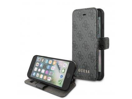 Pouzdro pro iPhone 7 / 8 / SE (2020) - Guess, 4G Book Grey