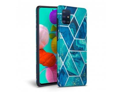 Ochranný kryt pro Samsung Galaxy A41 - Tech-Protect, Marble Blue