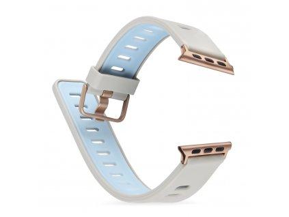 Řemínek pro Apple Watch 42mm / 44mm - Devia, TwoTone Stone/Blue