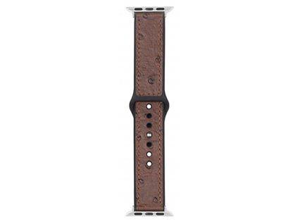 Řemínek pro Apple Watch 38mm / 40mm - Devia, Ostrich Brown