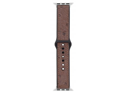 Řemínek pro Apple Watch 42mm / 44mm - Devia, Ostrich Brown