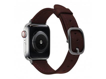 Řemínek pro Apple Watch 38mm / 40mm - Devia, Real Brown