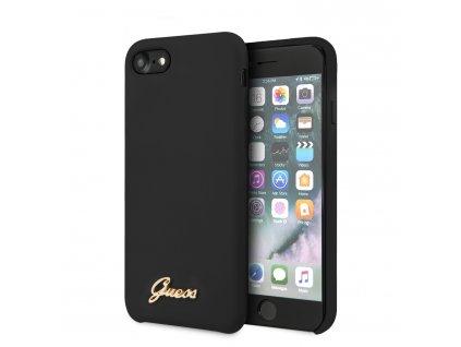 Ochranný kryt pro iPhone 7 / 8 / SE (2020) - Guess, Silicone Retro Black