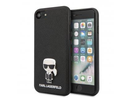 Kryt pro iPhone 7 / 8 / SE (2020) - Karl Lagerfeld, Saffiano Iconic Black