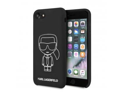 Ochranný kryt pro iPhone 7 / 8 / SE (2020) - Karl Lagerfeld, Silicone Ikonic Black