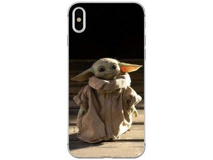 Ochranný kryt pro iPhone XS / X - Star Wars, Baby Yoda 001