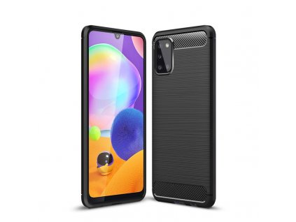 Ochranný kryt pro Samsung Galaxy A31 - Tech-Protect, Tpucarbon Black