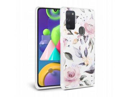 Ochranný kryt pro Samsung Galaxy M21 - Tech-Protect, Floral White