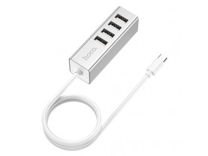 Redukce USB-C to USB-A - Hoco, HB1 Type-C Hub Silver
