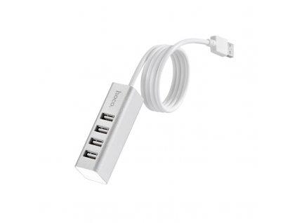 Redukce USB-A to USB-A - Hoco, HB1 USB Hub Silver