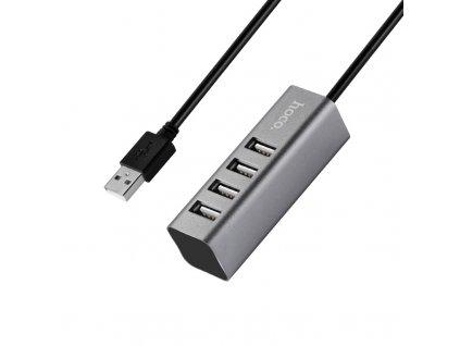 Redukce USB-A to USB-A - Hoco, HB1 USB Hub Gray