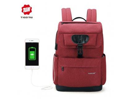 Městský batoh 15.6'' - Tigernu, T-B3513 Red