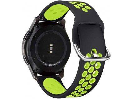 Řemínek pro Samsung Galaxy Watch 41mm - Tech-Protect, Softband Black/Lime