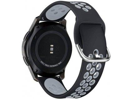 Řemínek pro Samsung Galaxy Watch 45mm - Tech-Protect, Softband Black/Gray