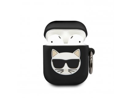 Pouzdro pro sluchátka AirPods - Karl Lagerfeld, Choupette Black