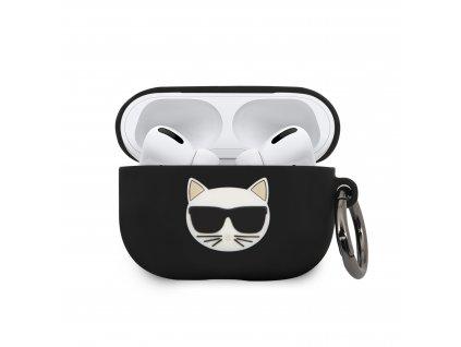 Pouzdro na sluchátka AirPods Pro - Karl Lagerfeld, Choupette Black
