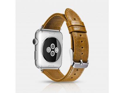 Řemínek pro Apple Watch 42mm / 44mm - iCarer, Classic Brown