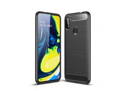 Ochranný kryt pro Samsung Galaxy M11 - Tech-Protect, Tpucarbon Black