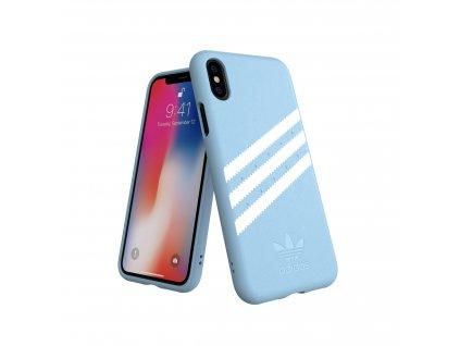 Ochranný kryt pro iPhone XS / X - Adidas, Snap Case Suede Blue