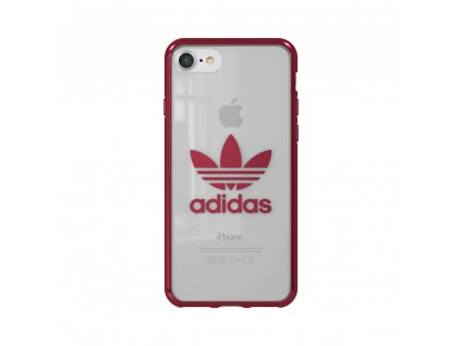 Ochranný kryt pro iPhone 8 / 7 / 6s / 6 / SE (2020) - Adidas, Clear Case Entry Red