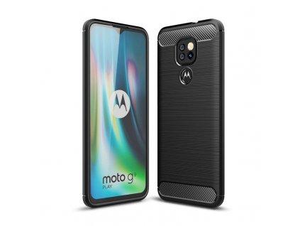 Ochranný kryt na Motorola Moto G9 Play - Tech-Protect, Tpucarbon Black