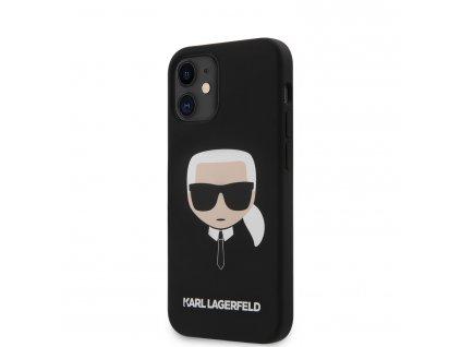 Ochranný kryt pro iPhone 12 mini - Karl Lagerfeld, Head Black