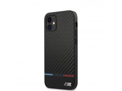 Ochranný kryt pro iPhone 12 mini - BMW, Carbon Tricolor Black
