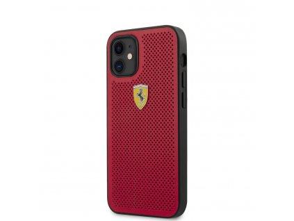 Ochranný kryt pro iPhone 12 mini - Ferrari, On Track Perforated Red