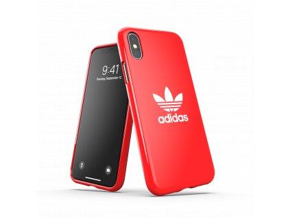 Ochranný kryt pro iPhone XS / X - Adidas, Snap Case Trefoil Red
