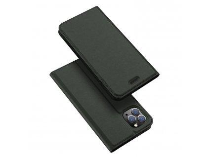 Knížkové pouzdro na iPhone 11 Pro - DuxDucis, SkinPro Green