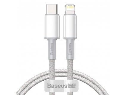 Rychlý datový kabel USB-C/Lightning - Baseus, PD20W 200cm White